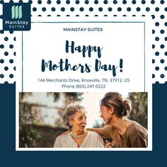"""A mother is the one who fills your heart in the first place."""" Happy Mother's day.Visit our website:- mainstayknoxville.com OR Contact:- +1 (865) 247-0222. #mainstay#hotel #motel #knoxville#suites#Tennessee #mainstay #explore #magicalcity #stay #contactusnow📲 #book #booknow‼️ Extended Stay, Hotel Motel, Happy Mothers, Tennessee, Explore, Website, Heart, Books, Libros"""