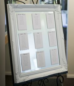 Superhero Wedding Photography - Reception - Seating chart - Superhero names - Table names - Mirror