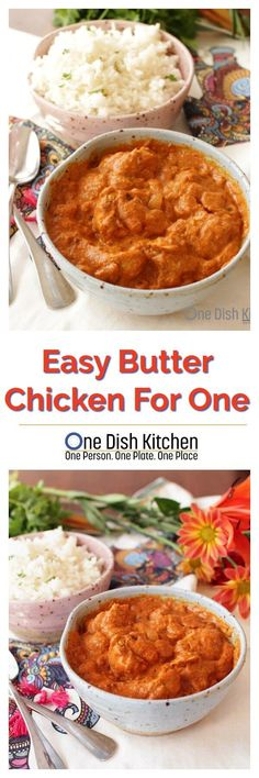 Butter Chicken For One – chicken cooked in a wonderful blend of Indian spices. This easy to make, classic recipe is ideal for anyone cooking for one. | ONE DISH KITCHEN