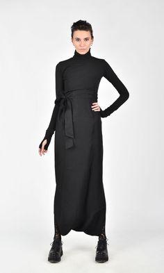 Asymmetric Wide Leg Wrap Skirt A09598