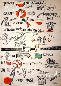 100 lat niepodległości- warto wiedzieć więcej o hymnie – Od słowa do słowa Mind Maping, Learn Polish, Independence Day Decoration, Polish Words, Poland History, Polish Language, Weekend Humor, Sketch Notes, Music Lessons