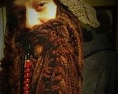 "GRAY Dwarf Beard inspired by ""The Hobbit"". $55.00, via Etsy."