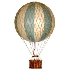 vintage hot air balloons - rope treatment