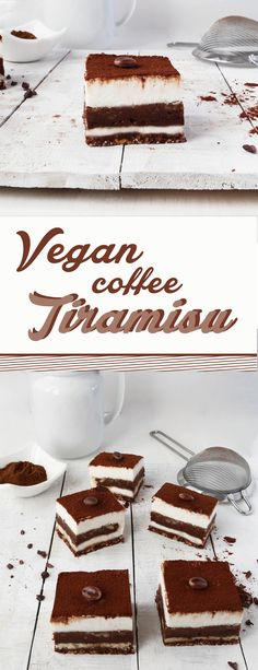 This Raw Vegan Coffee Tiramisu is made just with natural ingredients, dairy-free, gluten-free and can be made entirely raw.