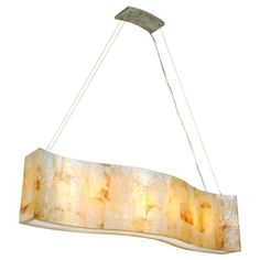 Varaluz Big Reclaimed Shell 6-light Linear Pendant | Overstock.com Shopping - Great Deals on Varaluz Chandeliers & Pendants