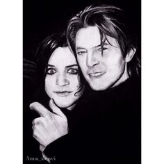 Time for some art! I've drawn it last summer and finally found it now⚪️⚫️ Charcoal is definitely one of my favorite drawing materials  Brian Molko & David Bowie  love them  #drawing #portrait #charcoal #art #brianmolko #placebo #davidbowie #withoutyouimnothing
