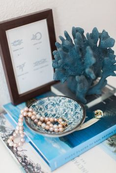 In order to remember her undersea home, the mermaid princess might choose nautical accessories.  Source: Ever and Anon Photography for The Everygirl