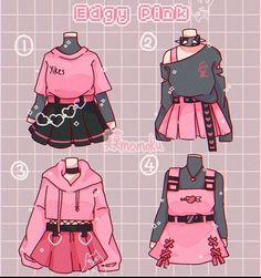 Cute Art Styles, Cartoon Art Styles, Fashion Design Drawings, Fashion Sketches, Anime Outfits, Girl Outfits, Kleidung Design, Drawing Anime Clothes, Manga Clothes