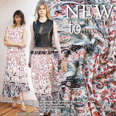 意大利进口时装连衣裙半截裙裙摆定位时尚高级定制布料面料布匹