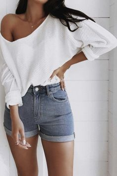 84 Affordable and Casual Summer Outfits for Women - Anziehsachen - Mode Outfits, Short Outfits, Trendy Outfits, Long Sleeve Outfits, Outfits 2016, Classic Outfits, Retro Outfits, Grunge Outfits, Jean Outfits