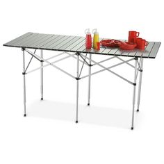 Guide Gear Roll - Top Table - 784434, Outdoor Furniture at Sportsman's Guide