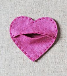 candy hearts - would be good for a tooth fairy pouch :-)