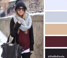 Cómo combinar los colores para crear un look perfecto. Os dejamos Nuevos ejemplos. Outfits Mujer, Color Combinations, Pantone, Sewing Patterns, Colours, Beige, Stylish, Wedding Dresses, Hats