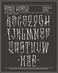 Tattoo Lettering Styles, Chicano Lettering, Lettering Guide, Graffiti Lettering Fonts, Tattoo Script, Fonts For Tattoos, Graffiti Alphabet Fonts, Arabic Tattoos, Typography