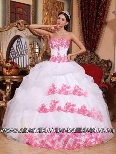 Traumhaftes Sissi Kleid Wolumen Abendkleid Ballkleid mit Stickereien
