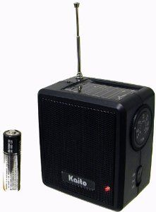 Kaito SB-1059 Mini Hand Crank AM/FM Weather Radio, Black by Kaito. $14.99. Powered by solar power or hand cranking, the Kaito mini-size hand crank emergency radio has a comprehensive frequency coverage including AM, FM and weather band, ideal for emergency preparedness, its compact size also makes it a perfect companion for outdoor activities. Other features include built-in speaker, earphone jack and charging indicator. Accessories include user manual and a 90-day m...
