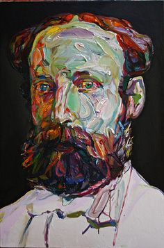 "Aaron Smith ""Harry Hoofter"", 2011, oil on panel, 30"" x 20"""
