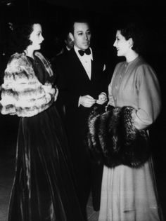 It's Hedy & Norma! with George Raft, Norma's boyfriend at the time..
