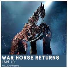 The multi-award winning production War Horse is returning to Melbourne this January. . Nick Staffords adaptation of Michael Morpurgos remarkable story tells of a young boy named Albert and his horse Joey set against the backdrop of the First World War. . Filled with stirring music and songs and featuring ground-breaking puppetry work which brings breathing galloping horses to life on stage. . Tickets now on sale: warhorseonstage.com.au @warhorseonstage Boy Names, First World, World War, Melbourne, Backdrops, January, Stage, Horses, Music