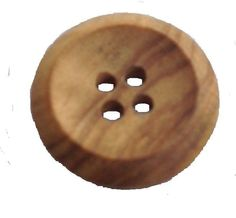 4-HOLE  WOODEN EFECT PLASTIC BUTTONS X 10 20mm, Sewing,Crafts Scrapbook