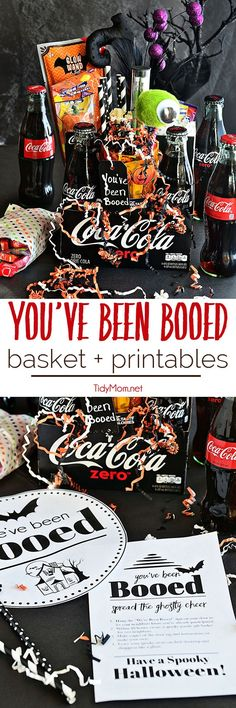 Have fun with your neighbors – You've Been BOOed! This Halloween surprise is fun way to create excitement and smiles around your neighborhood. Coca-Cola makes a great Halloween Boo Basket with free You've been Booed printable at TidyMom.net
