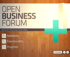 Open Business Forum [OBF] PowerPoint Template by MAOV (via Creattica)