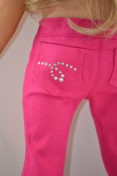 18 inch, American Girl  Doll Clothing. Skinny jeans