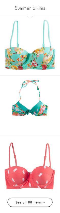 """Summer bikinis"" by sydnay-370 ❤ liked on Polyvore featuring swimwear, bikinis, bikini tops, tops, bathing suits, balmy teal, teal bikini top, sexy string bikini, sexy swimsuits and halter neck bikini top"