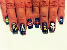 Avengers nail by maxzero - Nail Art Gallery nailartgallery.nailsmag.com by Nails Magazine www.nailsmag.com #nailart