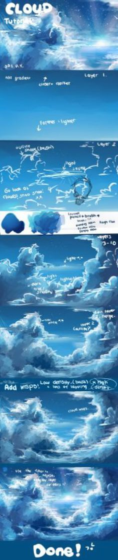 Cloud tutorial by AquaGalaxy on @DeviantArt