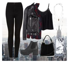 """""""Rainy day out X"""" by bella-howe on Polyvore featuring Topshop, Rails, Boohoo, Acne Studios, Oasis and Lucky Brand"""