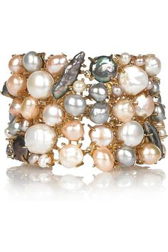 Alexander McQueen, gold-plated freshwater pearl bracelet