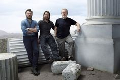 Christian Bale promoting Exodus:Gods and Kings with Ridley Scott and his co-star
