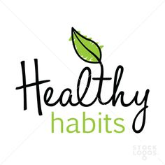Healthy Habits. Simple and beautiful logo for natural and organic related businesses. $225