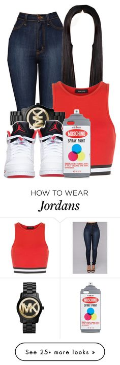 """Untitled #415"" by kayykayy15 on Polyvore featuring New Look, Michael Kors, Retrò and Moschino"