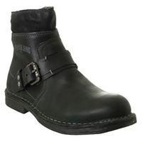 REPLAY-MENS FASHION-Men's Footwear-Replay Garm Biker Boots-£48.00-Garm Biker Boots    Premium leather biker boots by Replay with a bold panelled design, tonal seam stitching and prominent stitched welt. The boots feature a thick rubber sole with a short stacked heel, large strap to the front with branded buckle side fastening and embossed side branding. Finished with zip fastening to the side, a short zip placket to the back and a distressed finish.