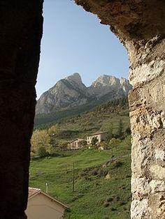 Vista del Pedraforca desde Saldes - Prov. Barcelona. Catalunya