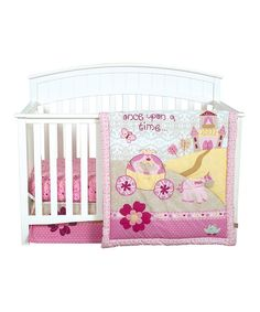 Take a look at this Pink Storybook Princess Crib Bedding Set on zulily today!