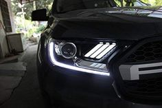 Ford Ranger Mustang Headlights Make sure it is intact before you sign. Otherwise, there will not be warranty against the transportation Available for both Left Hand Drive and Right Hand Drive LED will stay cool situation and longer life span with NONE color fading Easy installation (Professional installation recommended) Warranty 1 Year Ford Ranger, Led, 1 Year, Vehicles, Transportation, Sign, Easy, Color