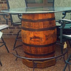 Jack Daniels Authentic Whiskey Barrel Bar Gananoque