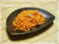 Sauteed Shredded Carrots in MIso & sake  千切り人参の味噌炒め:クックパッドニュースに掲載されました|Farmer's KEIKO オフィシャルブログ「Farmer's KEIKO 農家の台所」Powered by Ameba