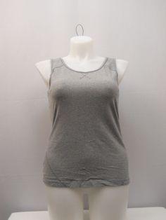 64dde9aea10b2 Danskin Womens Top Size XL 16-18 Gray Sleeveless Scoop Neck Athletic Wear  Yoga