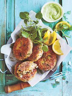 Lemon And Dill White Bean Dill And Cauliflower Fish Cakes Fish Cakes Recipe, Fish Recipes, Seafood Recipes, Whole Food Recipes, Cooking Recipes, Healthy Recipes, Veggie Recipes, Dessert Recipes, Donna Hay Recipes