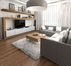 Dekoration Wohnung - Awesome Apartment Living Room Decorating Ideas On a Budget . Casual Living Rooms, Living Room On A Budget, Living Room Tv, Living Room Remodel, Small Living Rooms, Living Room Modern, Small Living Room Wallpaper Ideas, Chandelier For Living Room, Modern Bedroom
