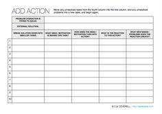 Action Writing Worksheet