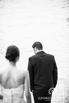 love this shot of a bride sneaking up on her groom | www.georgestreetphoto.com