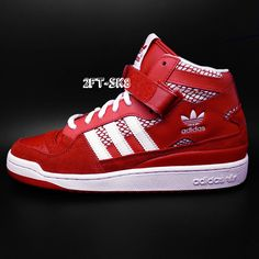 sports shoes befea 9010e ADIDAS FORUM MID RS RED WHITE MENS CASUAL ATHLETIC SHOES  adidas   AthleticSneakers Sneakers Fashion