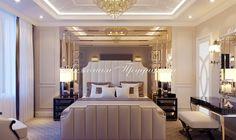 Дизайн интерьера гостевой спальнив стиле Арт Деко в Звонарском переулке