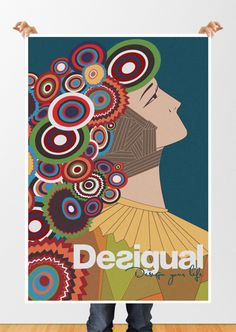 Desigual Illustration Poster