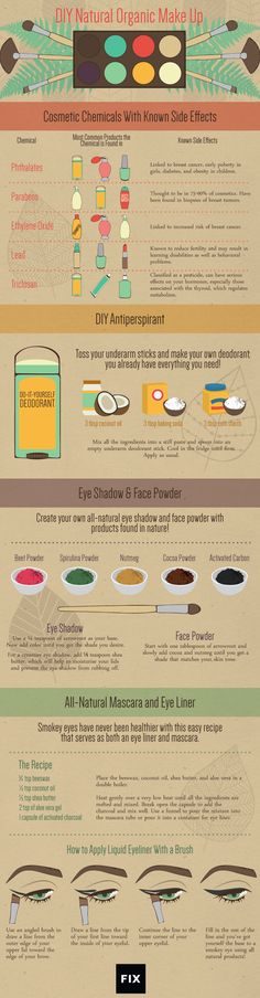 DIY Natural Organic Make Up #infographic #MakeUp #Organic #Lifestyle #DIY